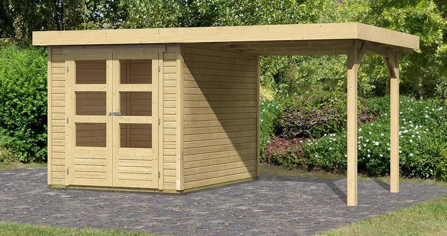 woodfeeling ger tehaus askola 2 mit schleppdach 73245 a z gartenhaus gmbh. Black Bedroom Furniture Sets. Home Design Ideas