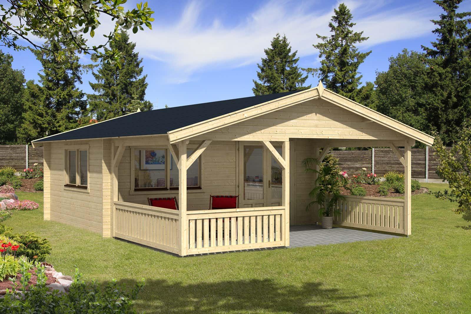 gartenhaus modell flex 50 d mit 300cm terrasse 5x4 3 a z. Black Bedroom Furniture Sets. Home Design Ideas