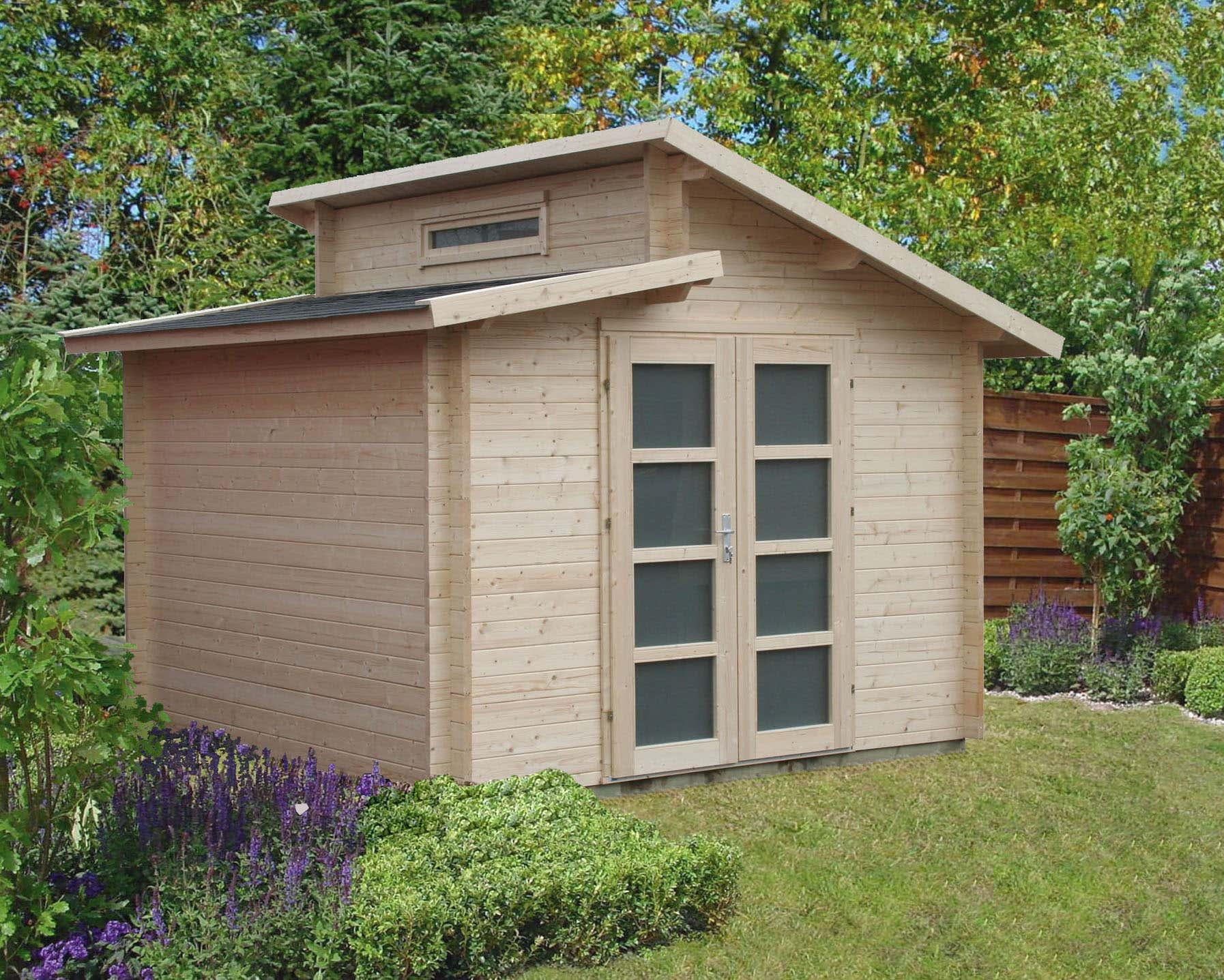 doppel pultdach gartenhaus modell aktiva 40 doppel. Black Bedroom Furniture Sets. Home Design Ideas