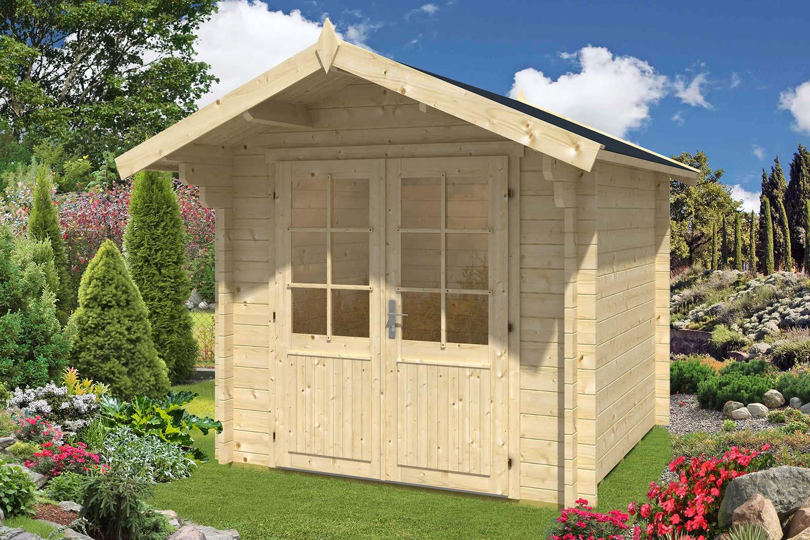 gartenhaus lena 44 iso gartenhaus lena 44 iso a z gartenhaus gmbh. Black Bedroom Furniture Sets. Home Design Ideas