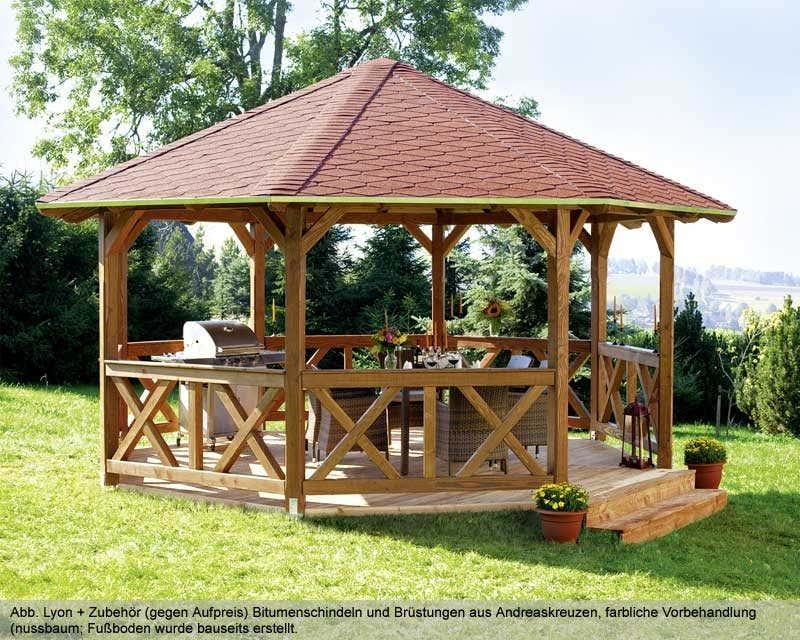 gartenpavillon lyon 2 douglasie a z gartenhaus gmbh. Black Bedroom Furniture Sets. Home Design Ideas