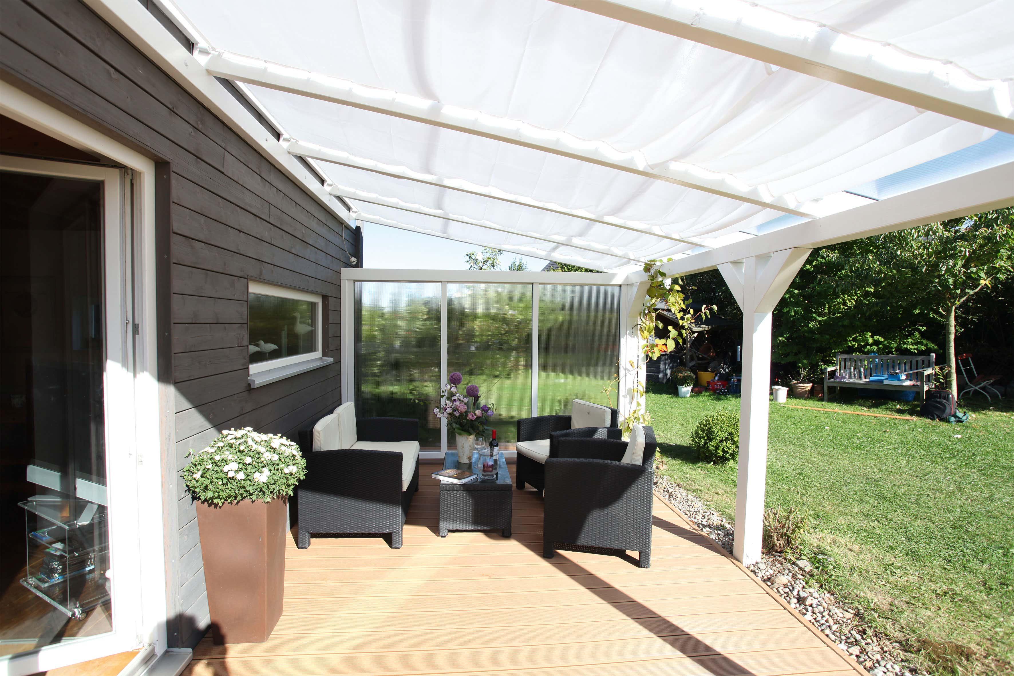 TerrassenUberdachung Holz Polycarbonat ~   Terrassenüberdachung aus Polycarbonat 250cm  A Z Gartenhaus GmbH
