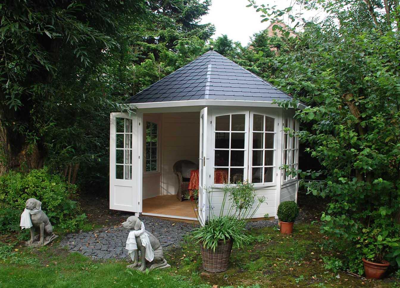 gartenpavillon modell emma 40 mit vier fenstern 122421 a z gartenhaus gmbh. Black Bedroom Furniture Sets. Home Design Ideas