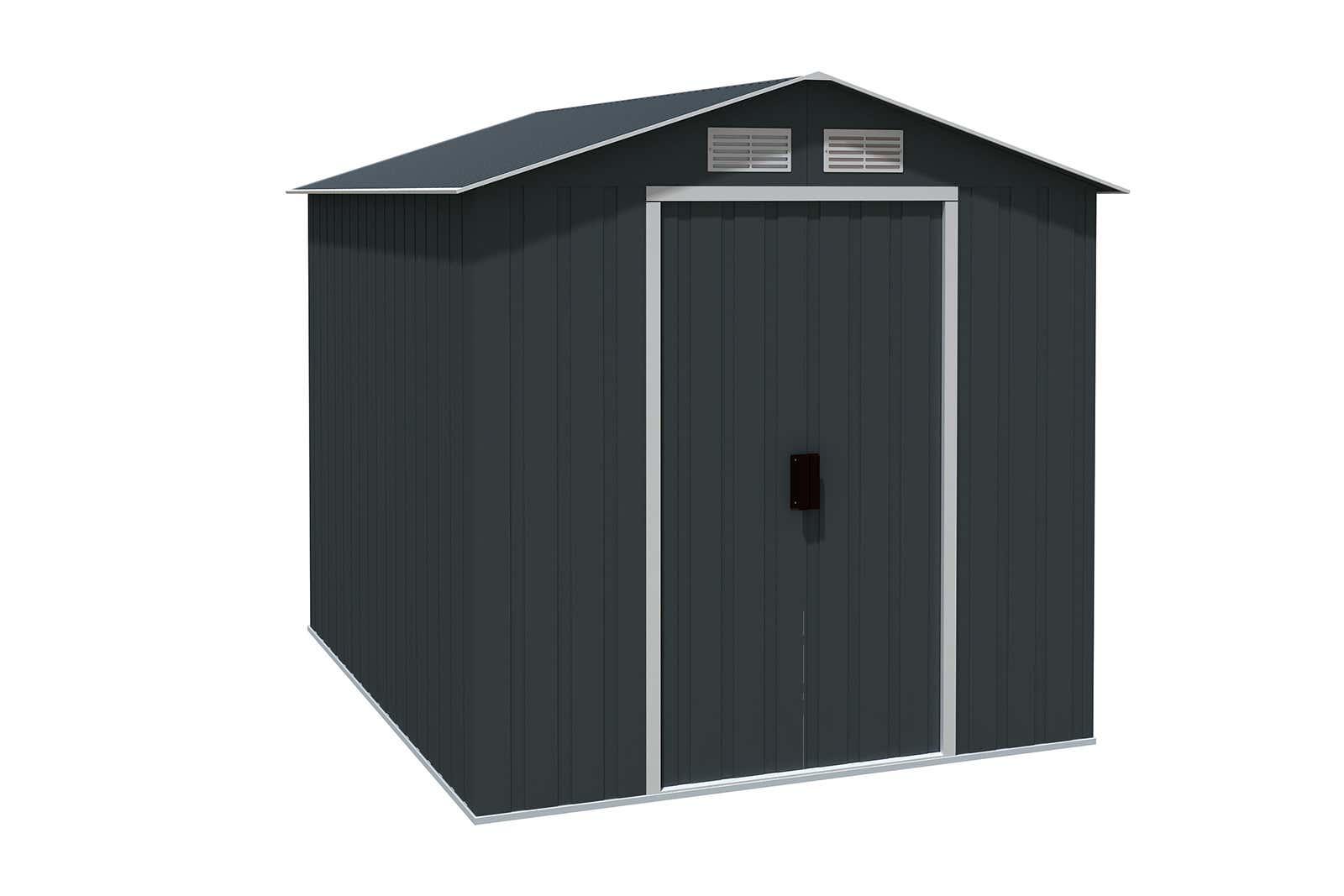 metallger tehaus riverton 6x8 anthrazit 7242 a z gartenhaus gmbh. Black Bedroom Furniture Sets. Home Design Ideas