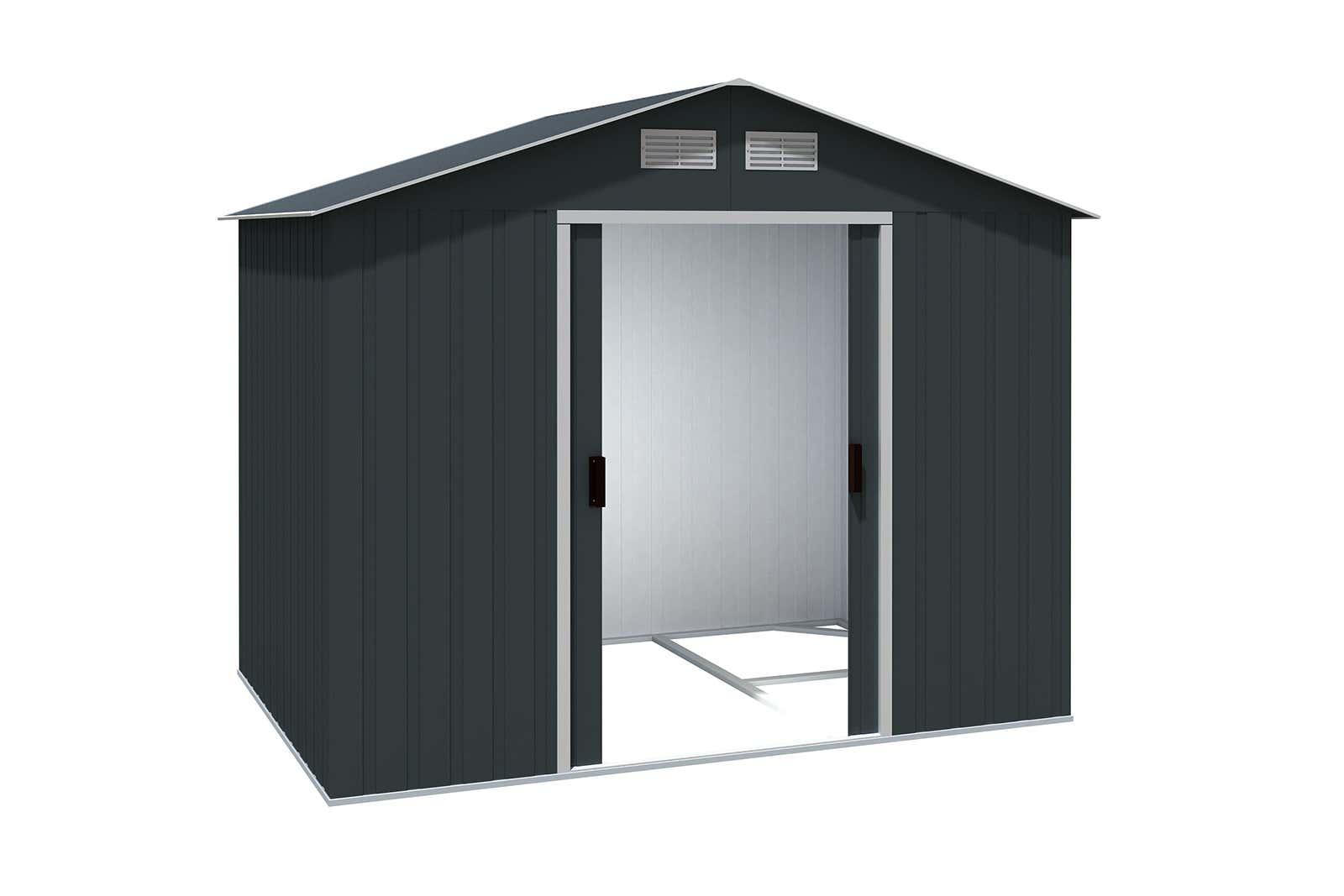 metallger tehaus titan 8x6 anthrazit 7243 a z gartenhaus gmbh. Black Bedroom Furniture Sets. Home Design Ideas
