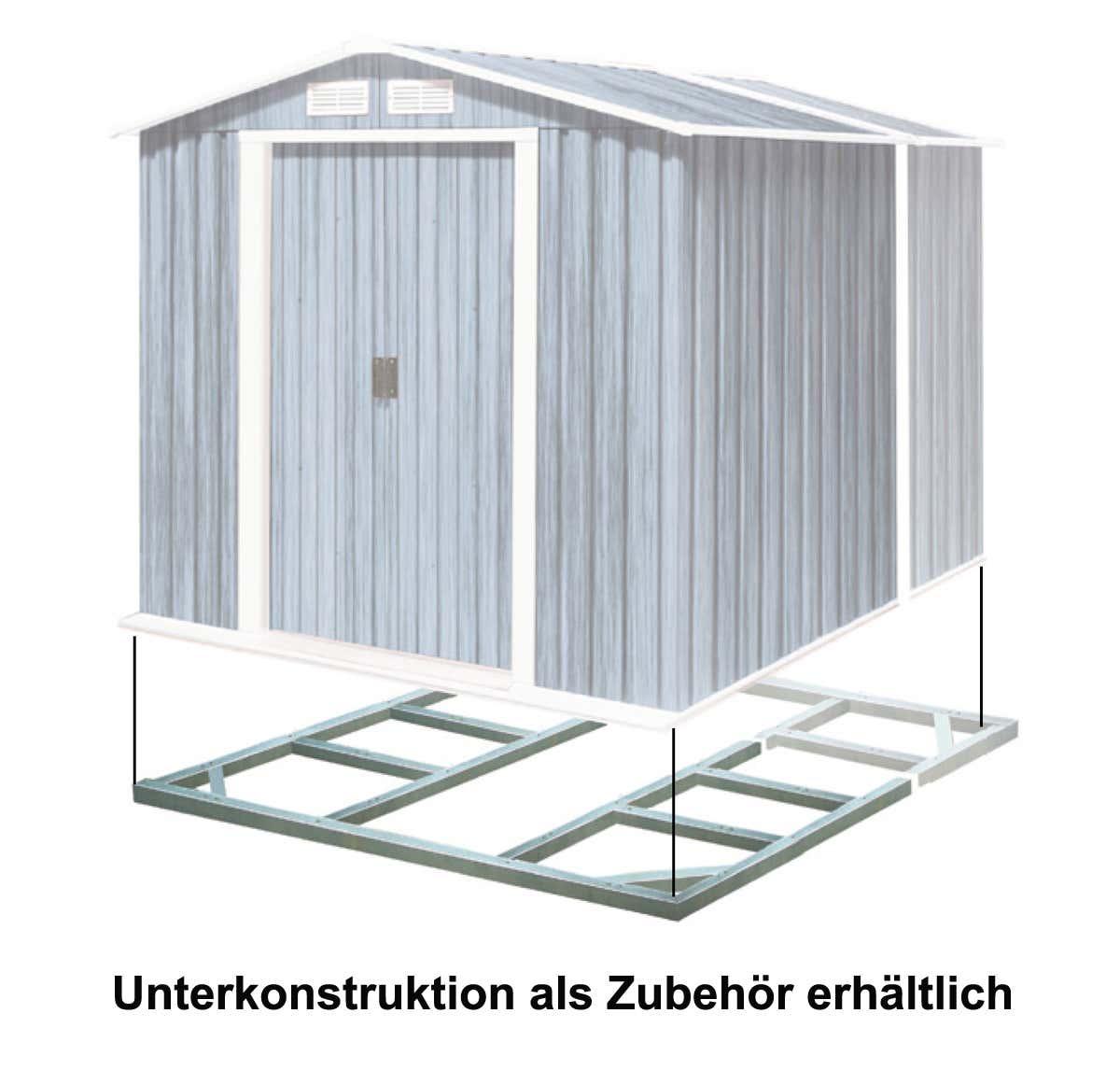 metallger tehaus titan 8x6 gr n haustyp2 a z gartenhaus gmbh. Black Bedroom Furniture Sets. Home Design Ideas