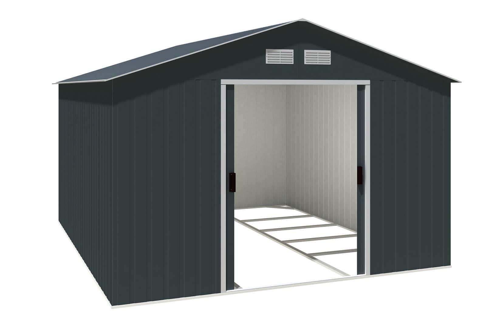 metallger tehaus colossus 10x12 anthrazit 7248 a z. Black Bedroom Furniture Sets. Home Design Ideas