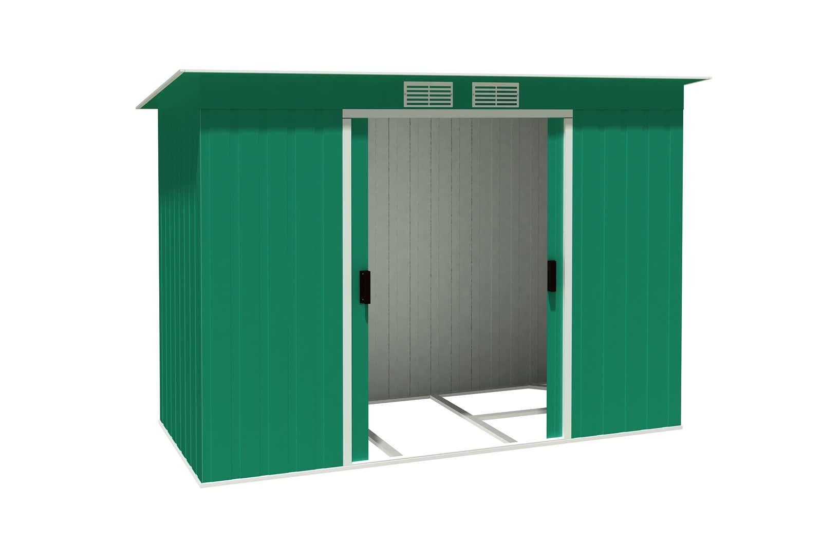 metallger tehaus pent roof 8x4 gr n 7117 a z gartenhaus gmbh. Black Bedroom Furniture Sets. Home Design Ideas