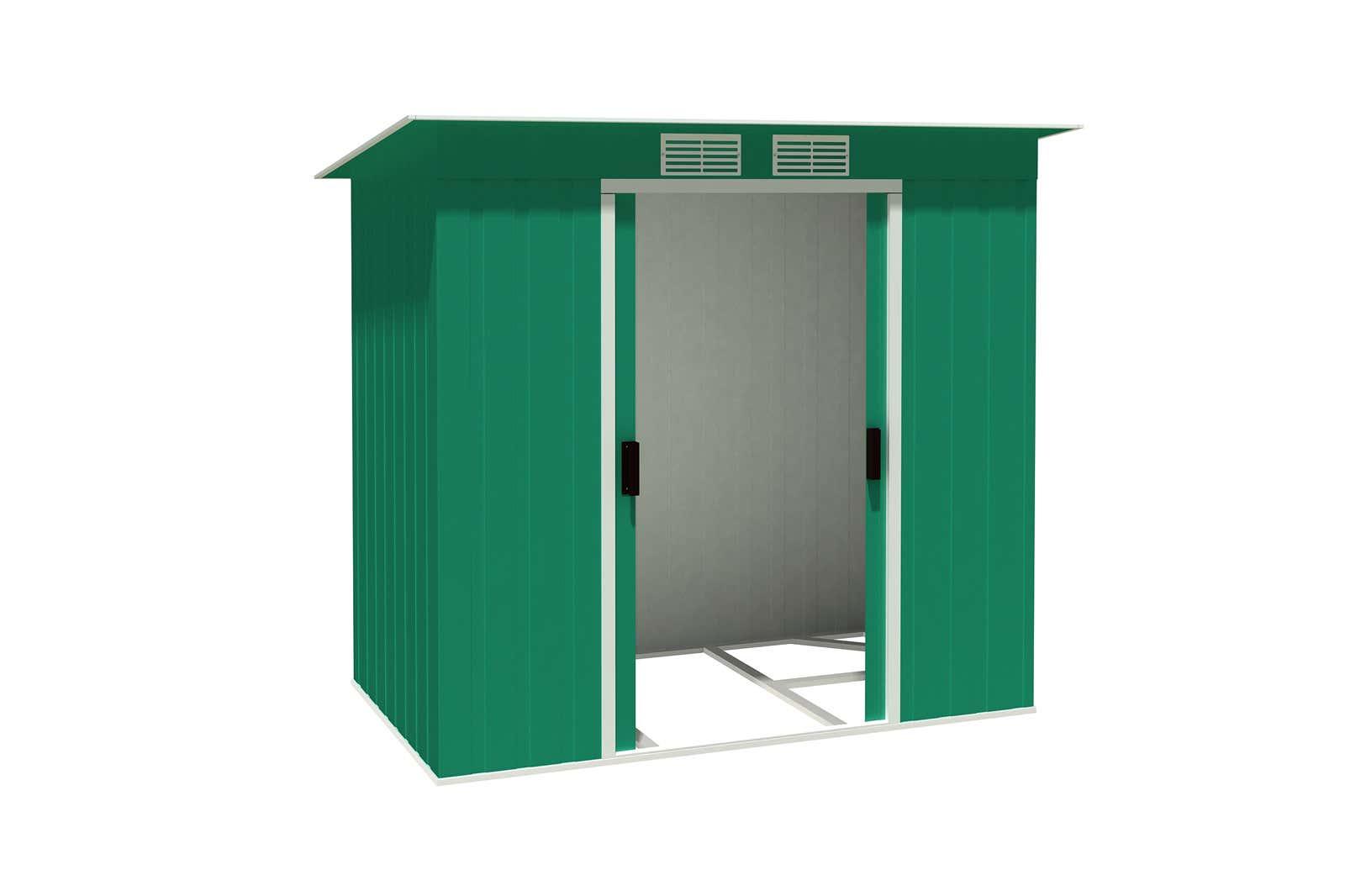 metallger tehaus pent roof 6x4 gr n 7116 a z gartenhaus gmbh. Black Bedroom Furniture Sets. Home Design Ideas