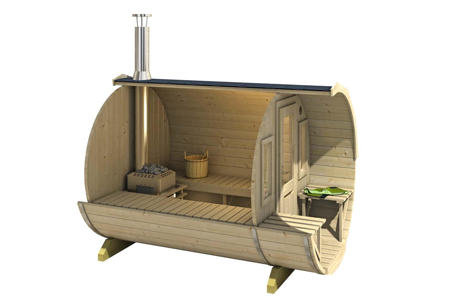 fasssauna mit holzofen aus polen schwimmbad und saunen. Black Bedroom Furniture Sets. Home Design Ideas