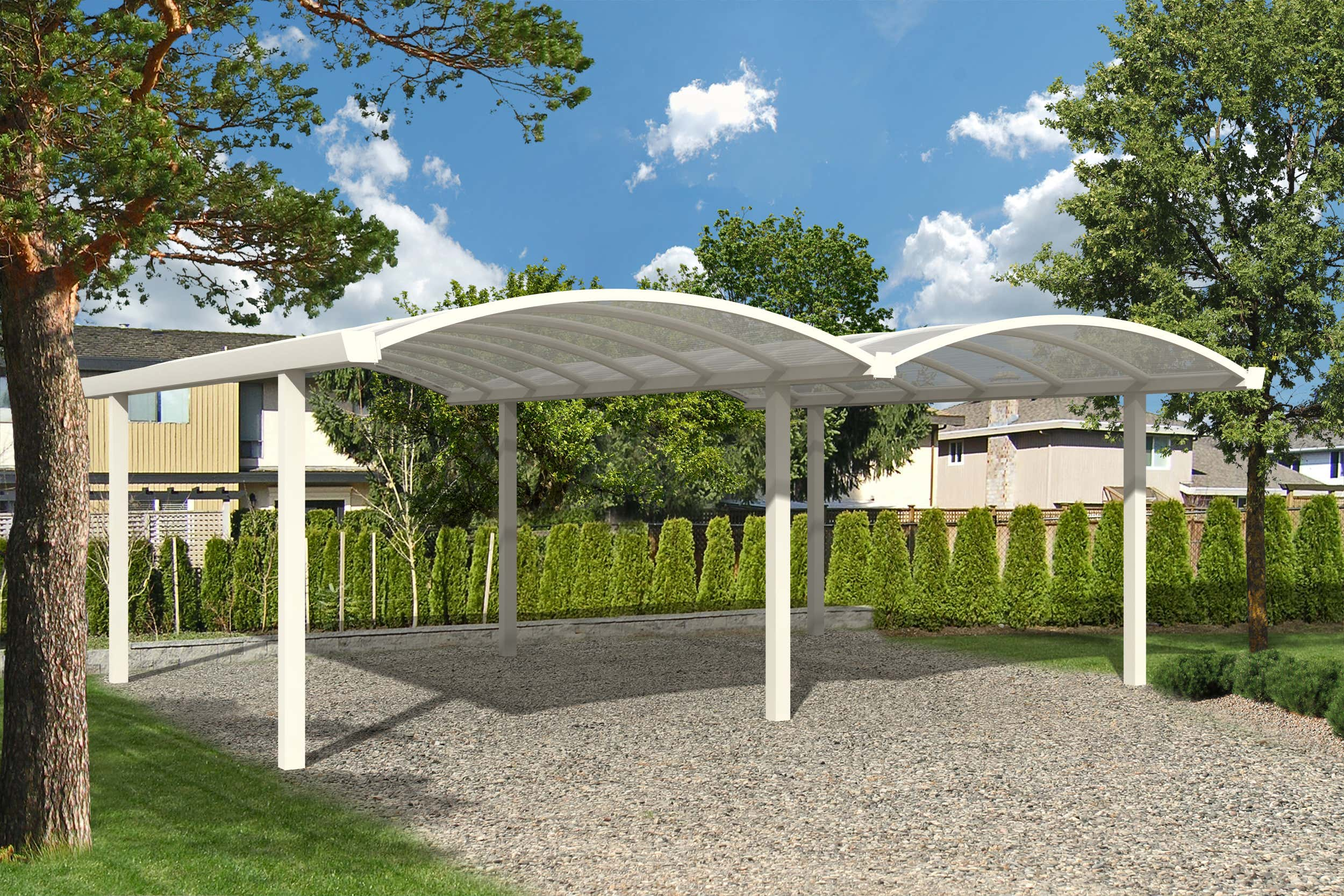 doppel bogen carport 600 x 500 cm a z gartenhaus gmbh. Black Bedroom Furniture Sets. Home Design Ideas