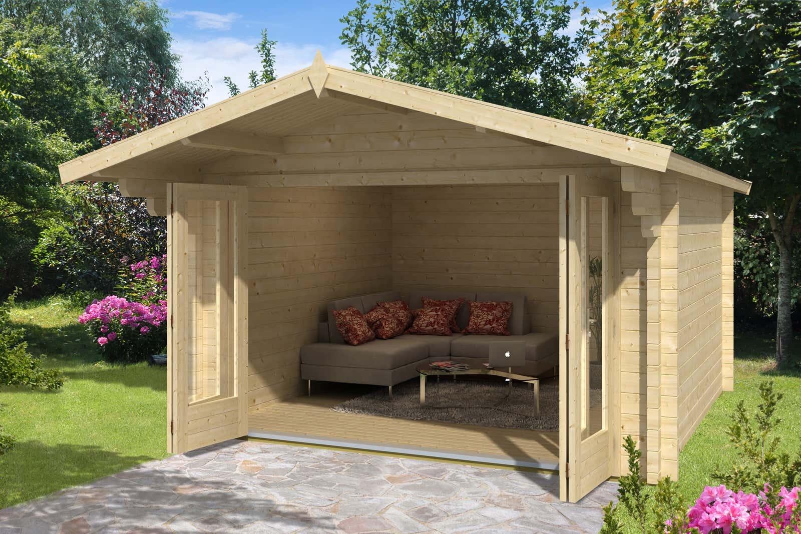 gartenhaus charlotte 70 mit faltt ren a z gartenhaus gmbh. Black Bedroom Furniture Sets. Home Design Ideas