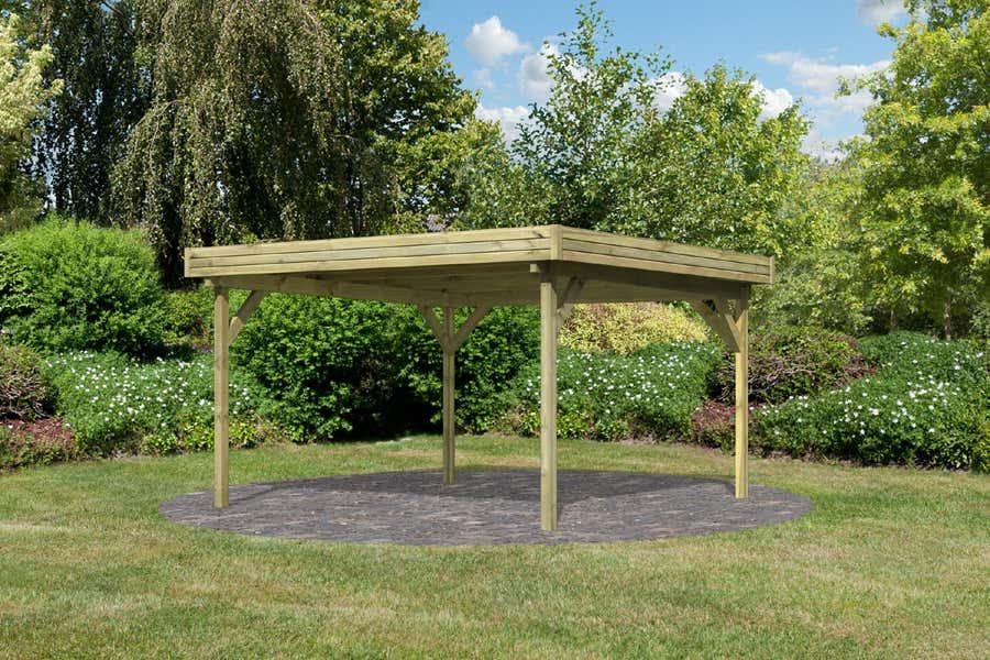karibu flachdach pavillon 3 54432 a z gartenhaus gmbh. Black Bedroom Furniture Sets. Home Design Ideas
