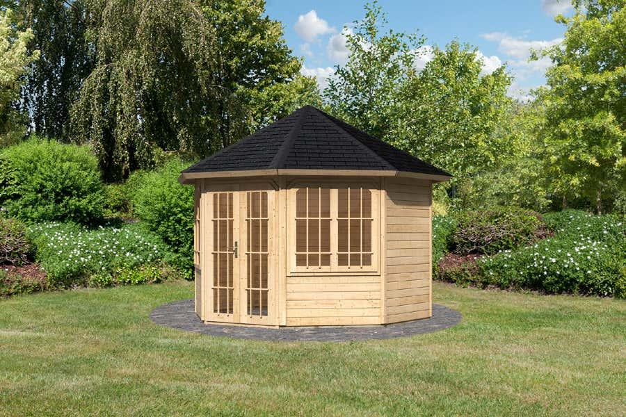 karibu gartenpavillon roma ka2 28741 a z gartenhaus gmbh. Black Bedroom Furniture Sets. Home Design Ideas