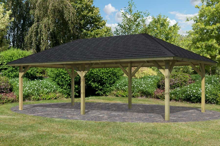 karibu gartenpavillon holm 2 14107 a z gartenhaus gmbh. Black Bedroom Furniture Sets. Home Design Ideas