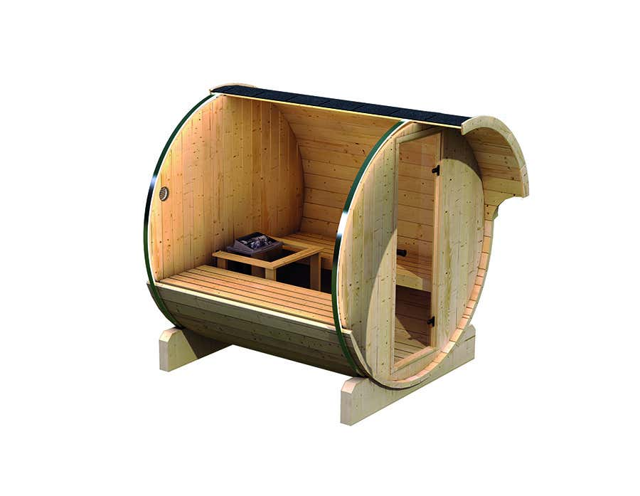 karibu fass sauna 1 63447 a z gartenhaus gmbh. Black Bedroom Furniture Sets. Home Design Ideas