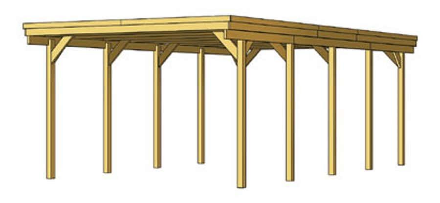 carport friesland 397 x 708 cm aluminiumdachplatten. Black Bedroom Furniture Sets. Home Design Ideas