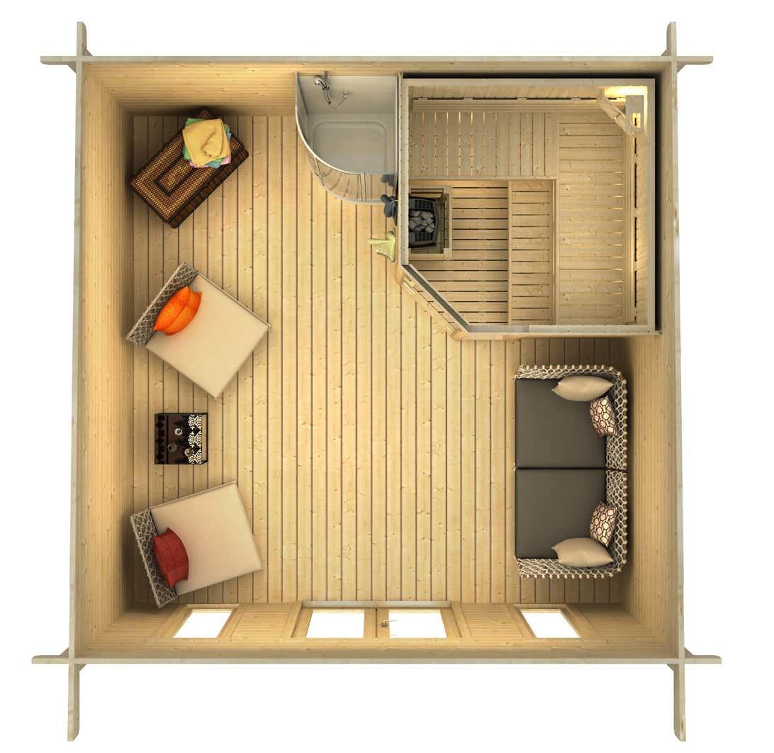 saunahaus baltic 44 iso a z gartenhaus gmbh. Black Bedroom Furniture Sets. Home Design Ideas