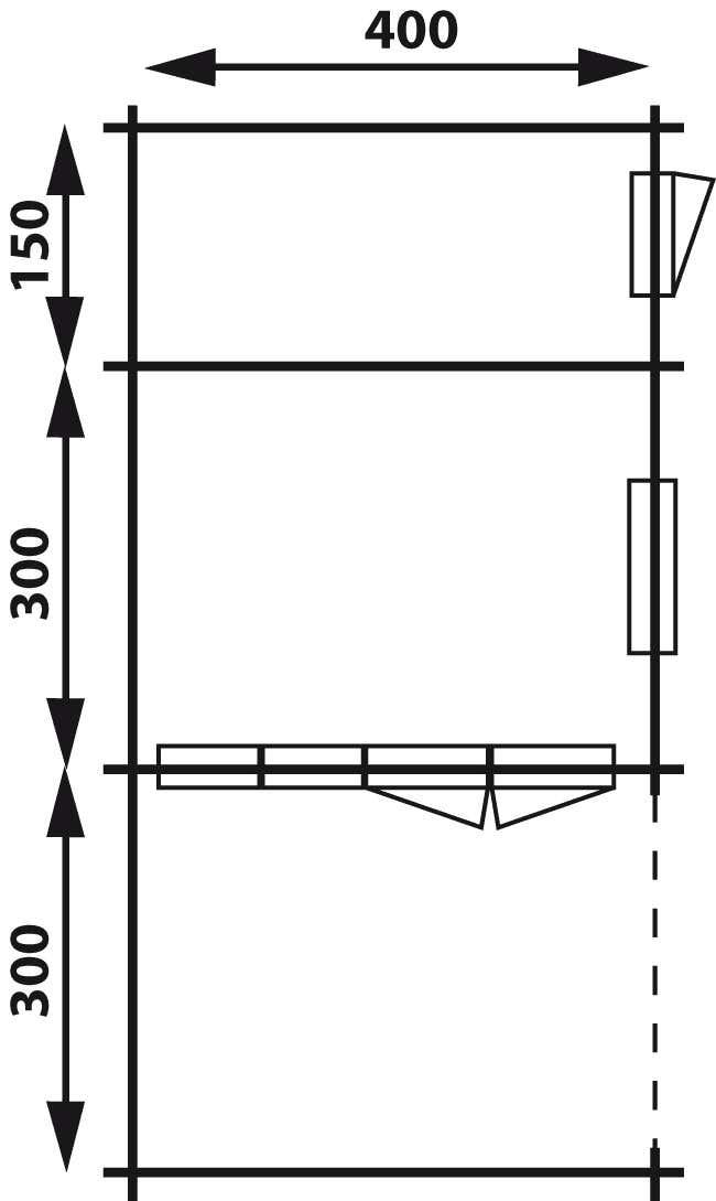 gartenhaus modell wolfskappe 50 a mit ger teraum 4x3 3a. Black Bedroom Furniture Sets. Home Design Ideas