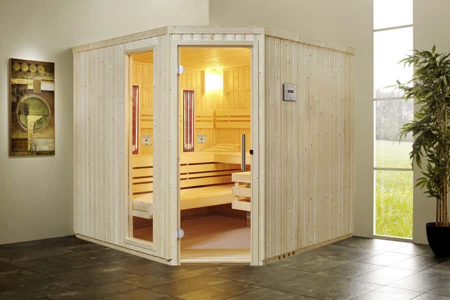 Infraworld sauna innenkabine safir complete 391032 a z gartenhaus gmbh - Sauna selber bauen kosten ...