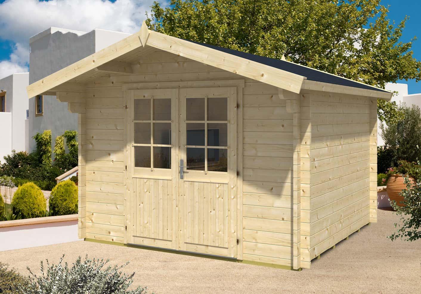 gartenhaus anna 44 iso t02344 a z gartenhaus gmbh. Black Bedroom Furniture Sets. Home Design Ideas