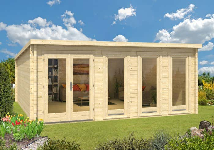 gartenhaus mit 70 mm wandst rke kaufen gro e auswahl. Black Bedroom Furniture Sets. Home Design Ideas