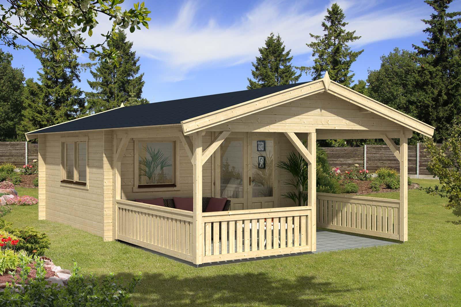 gartenh user mit berdachter terrasse oder veranda kaufen. Black Bedroom Furniture Sets. Home Design Ideas